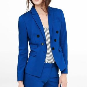 NWT Express Double Breasted Blue Blazer